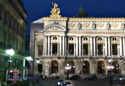 Paris opera at night