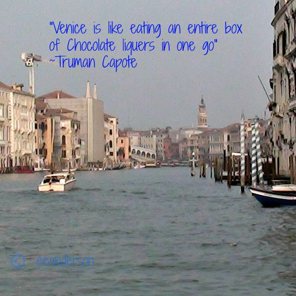 Venice with travel quote