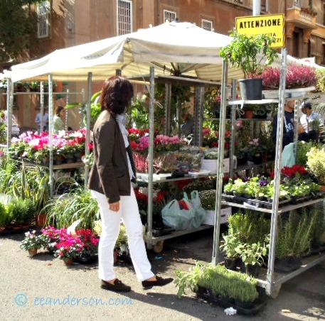 casual clothes at Sunday flea market Rome