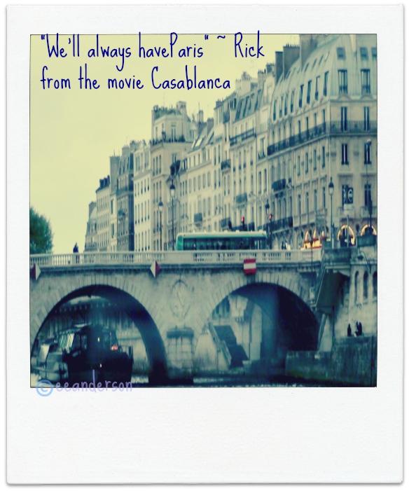 Paris from under a bridge