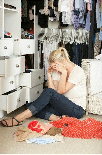 unhappy at closet