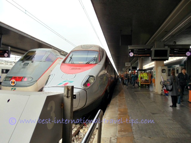 high speed train travel in Italy