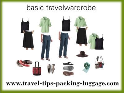 Basic travel wardrobe