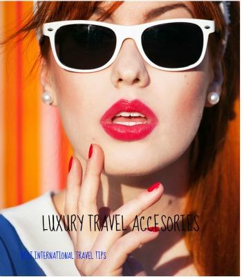 women enjoying her luxury travel accessories