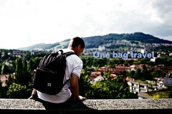 man travelling with one bag