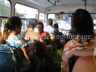 people on the bus Puerto Vallarta Mexico