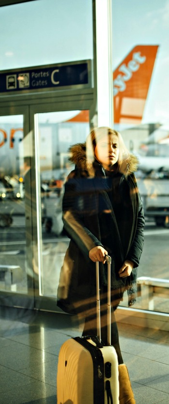 women with suitcase